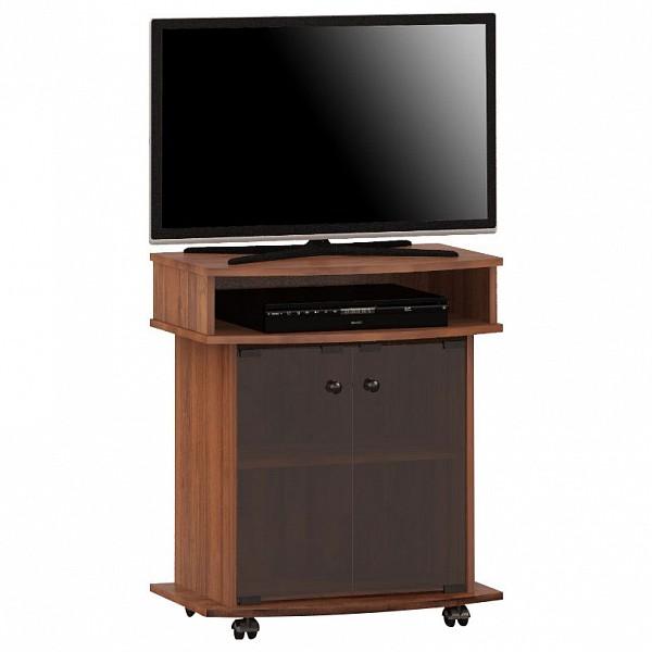 Тумба под телевизор выкатная Мебель Смоленск ТВА-04 65x42,8x76,5 см, орех тёмный