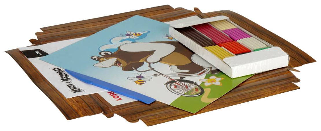 Купить LORI Картина из пластилина Медведь на велосипеде Пкш-004, Лепка