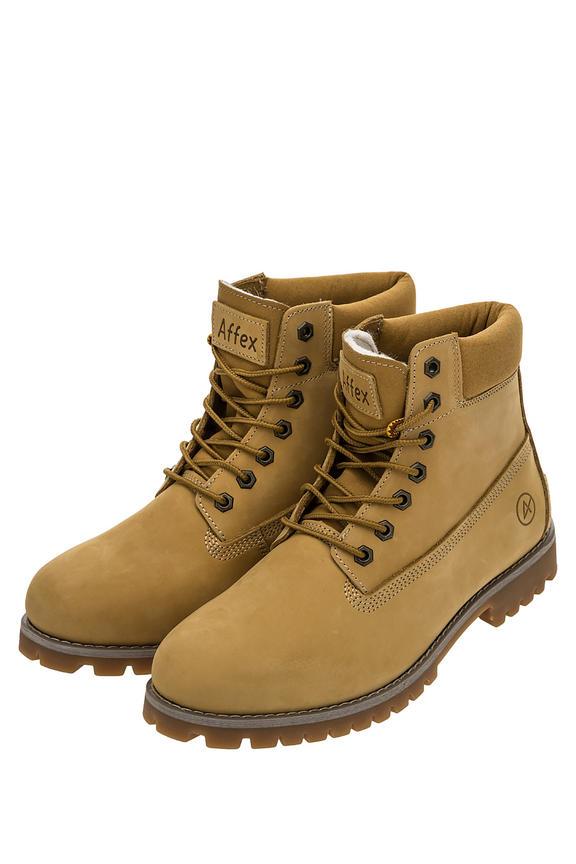 Ботинки мужские желтые AFFEX 116-NWK-DRT-M