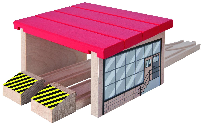 Купить Железнодорожный набор Eichhorn Депо для 2 поездов 100001515, Детские железные дороги