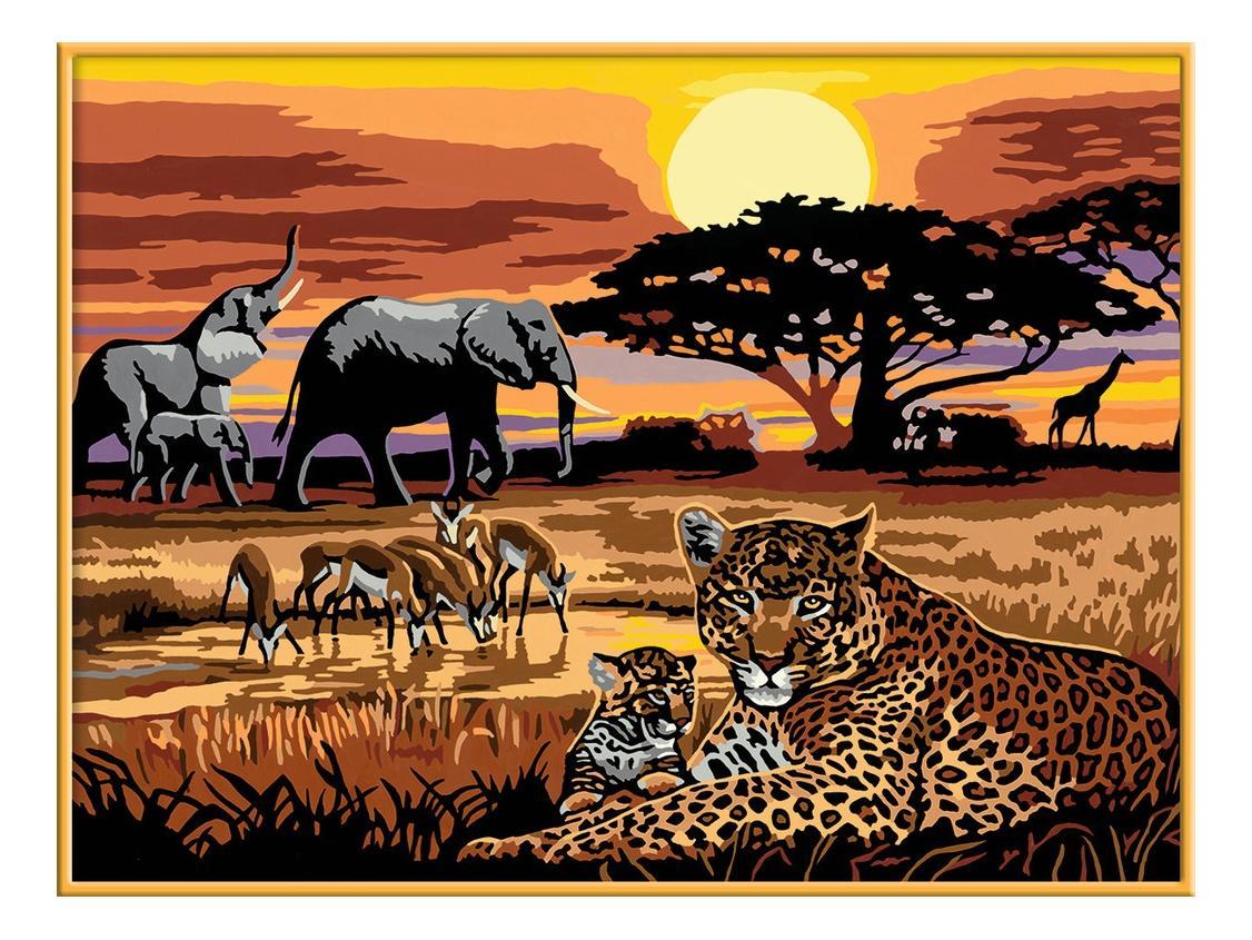 Раскрашивание по номерам «африка» размер картинки – 40*30 см