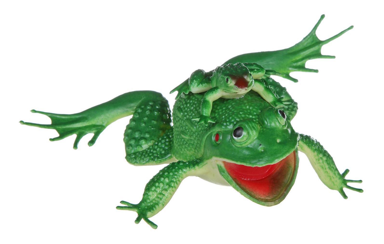 Купить Набор животных Bondibon ребятам о зверятах, лягушка 7 с лягушонком 2, Фигурки животных
