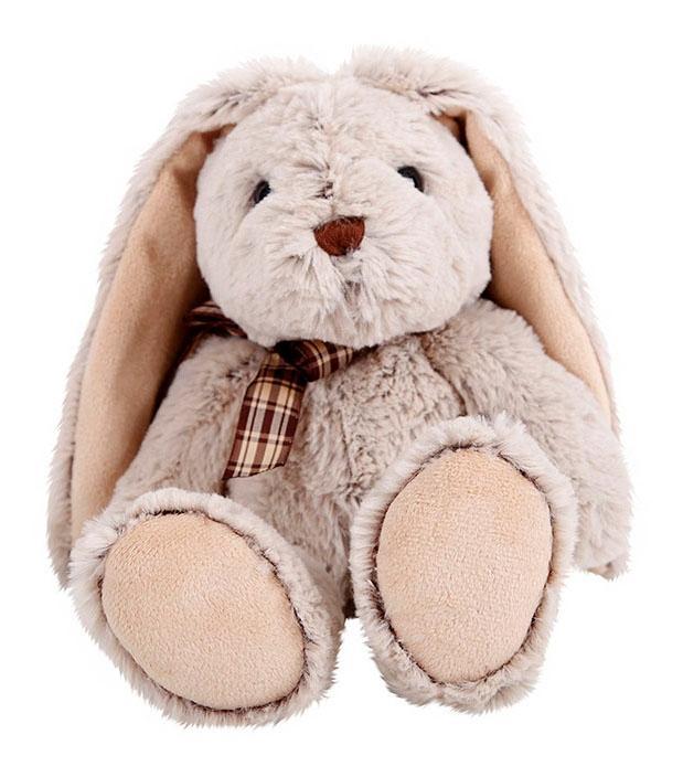 Купить Мягкая игрушка Button Blue Сидячий зайка, 22 см, Мягкие игрушки животные