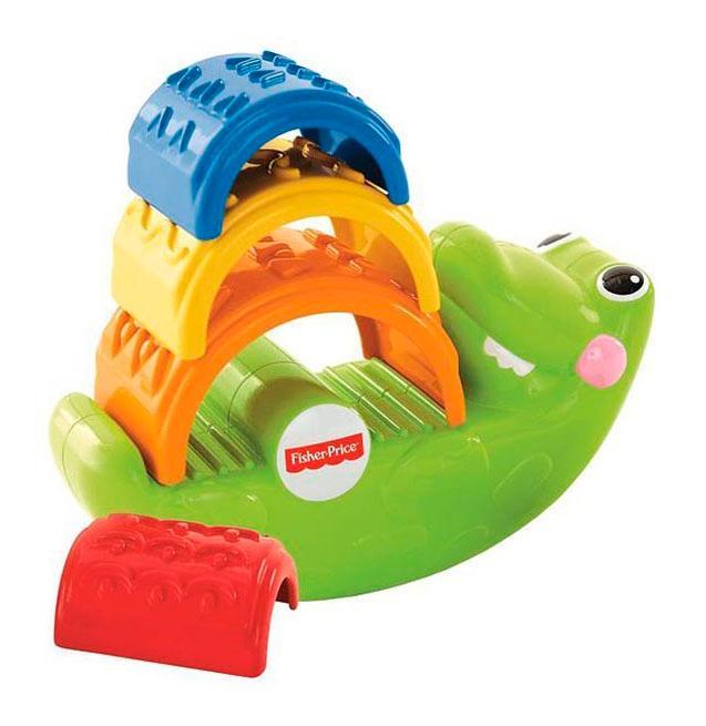 Купить CDC48, Игрушка-пирамидка Fisher-Price Крокодильчик, Пирамидки для детей