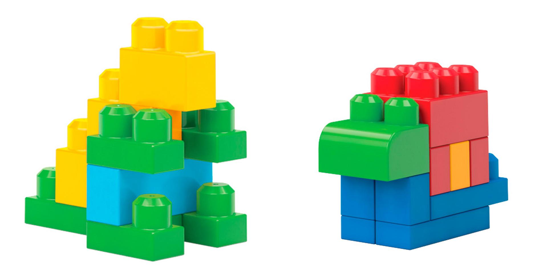 Купить Big Building Bag, Конструктор пластиковый Mattel Обучающий конструктор - 80 деталей CYP72 DCH63, Mega Bloks, Конструкторы пластмассовые