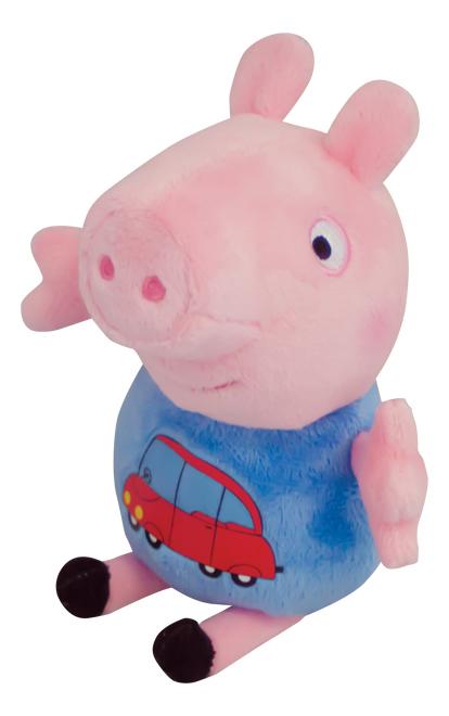 Мягкая игрушка Росмэн Мягкая игрушка Джордж с машинкой Рерра Рig 29620