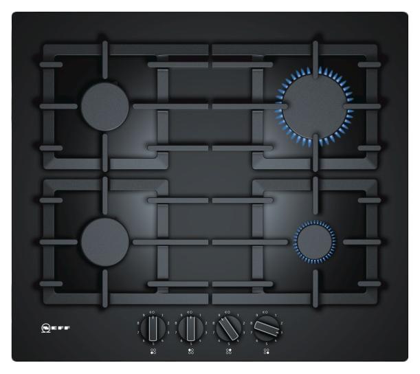 Встраиваемая варочная панель газовая Neff T26CS49S0 Black