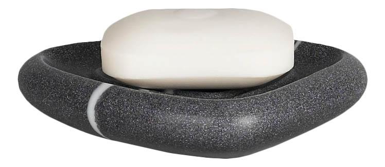 Мыльница Spirella Etna Stone камень полирезина серый