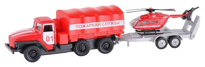Спецтехника Технопарк УРАЛ Пожарная служба с прицепом 7,5 см фото