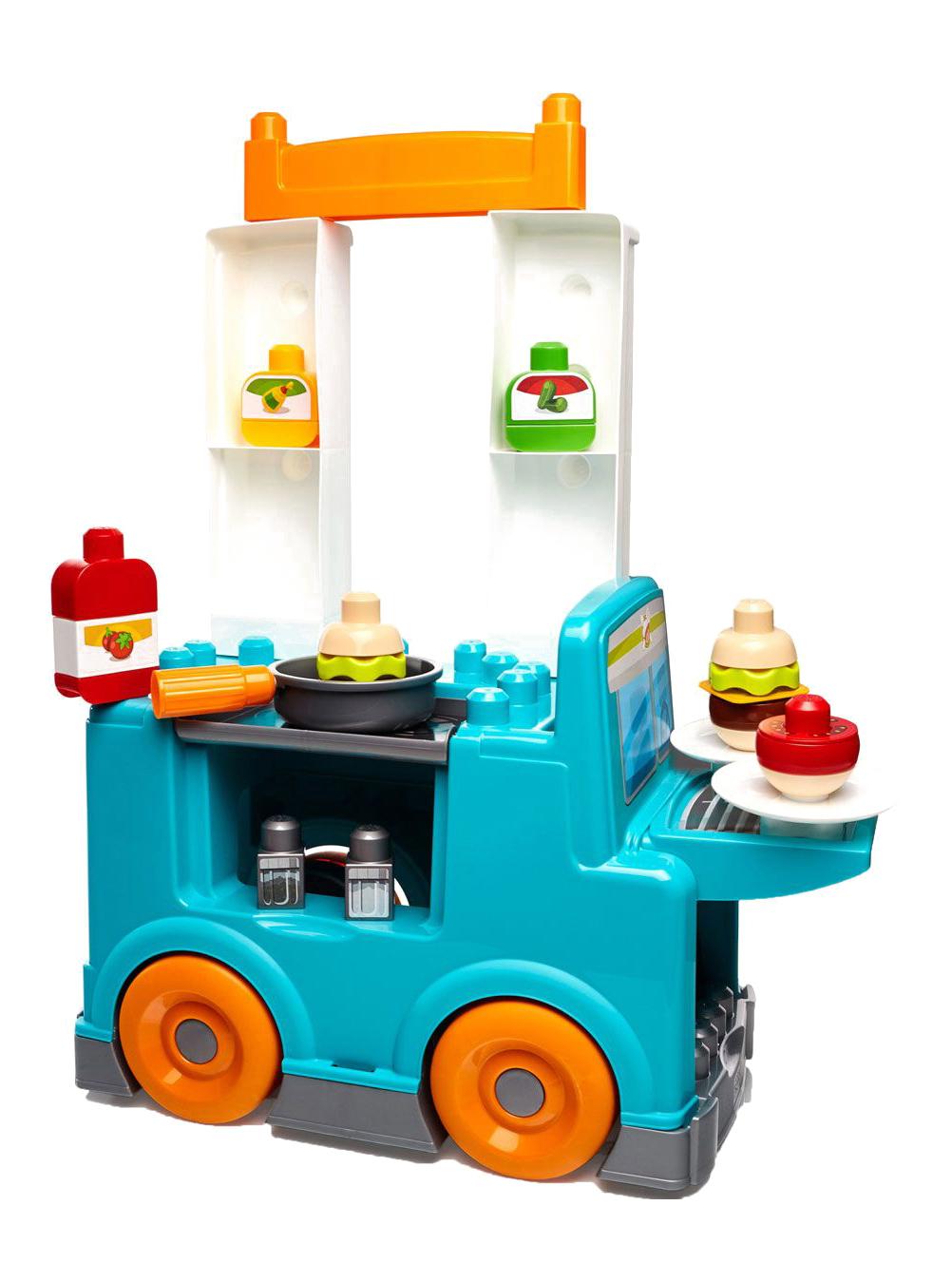 Купить Конструктор пластиковый Mattel inc Mega Bloks Продуктовый фургон, Конструкторы пластмассовые