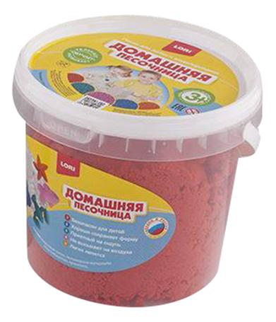 Купить Кинетический песок LORI Красный песок 1 кг, Лепка