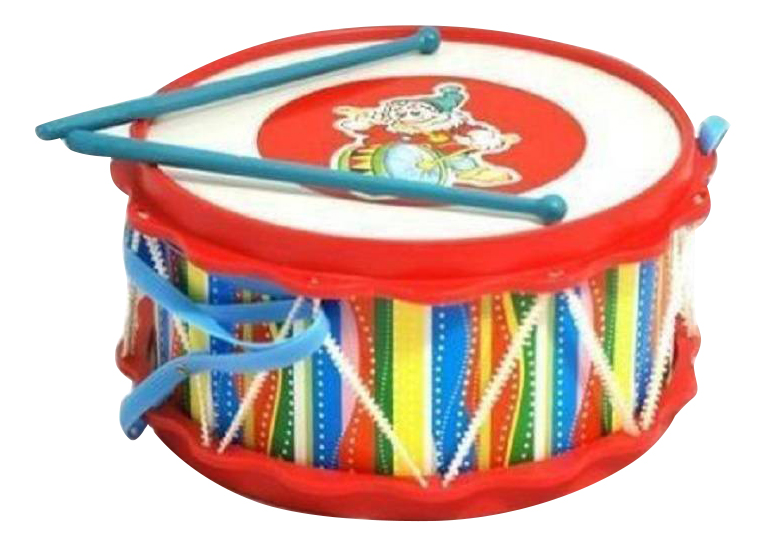 Купить Барабан игрушечный ТулИгрушка Барабан Друг с аппликацией, Детские музыкальные инструменты