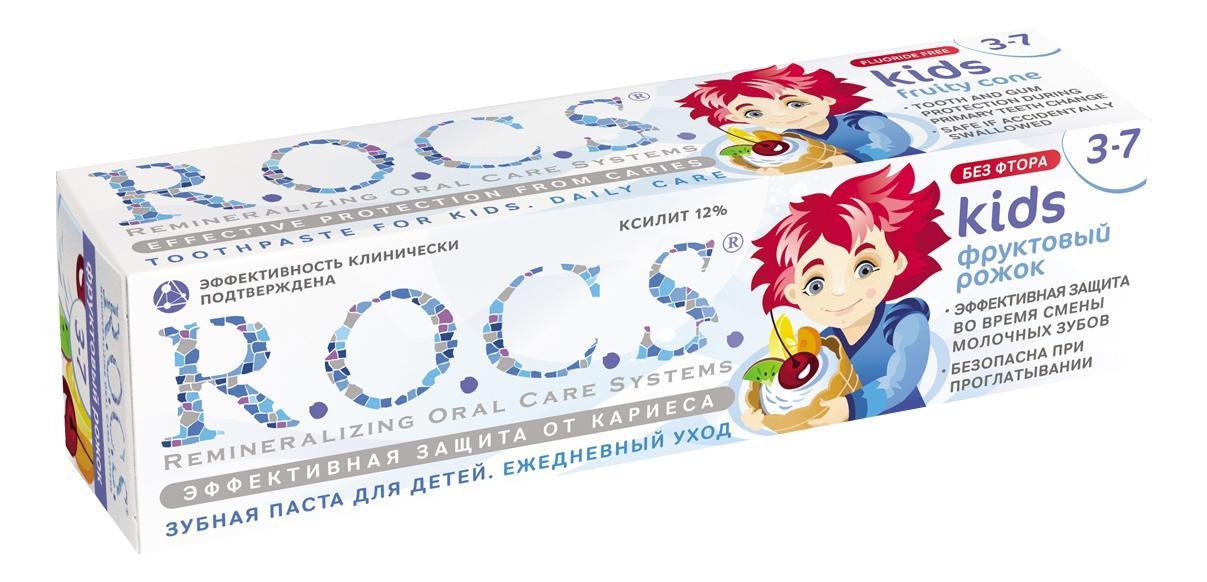 Купить Детская зубная паста R.O.C.S. Фруктовый рожок 45 г, Детские зубные пасты
