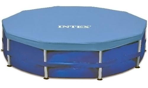 Тент для каркасного бассейна INTEX Round Metal Frame Pool Cover 366 см. (28031)