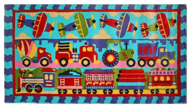 Ковер детский Kamalak tekstil голубой 80х150 УКД-2056