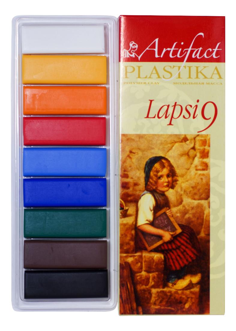 Глина для лепки Artifact Lapsi 9 классических цветов фото