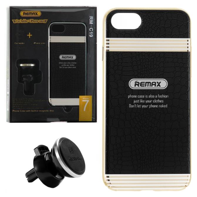 Чехол накладка + автодержатель Apple iPhone 7 47 Remax RM-C19 Black