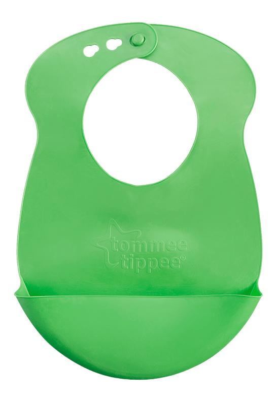 Купить Нагрудник детский tommee tippee Roll n Go зеленый, Слюнявчики