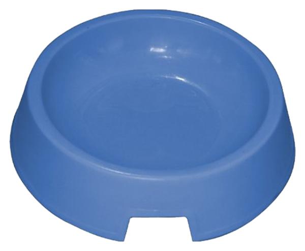 Одинарная миска для кошек Зооник, пластик, серый,