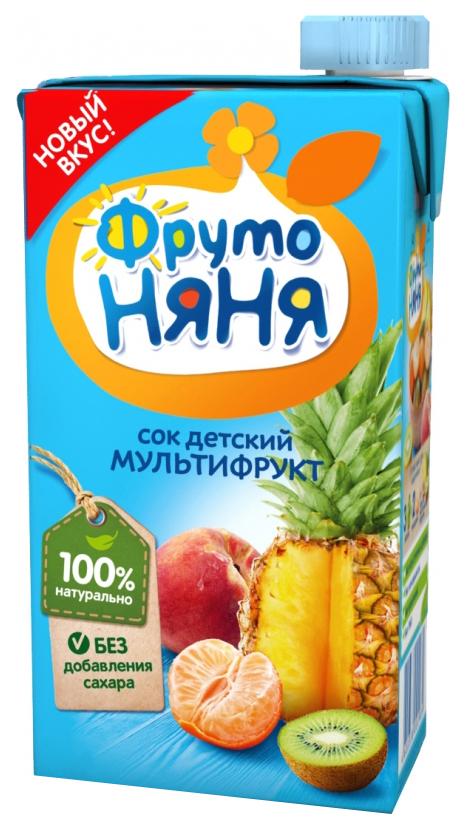 Сок ФрутоНяня Мультифруктовый с 3 лет