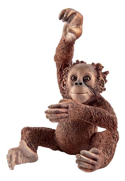 Фигурка Schleich Детеныш орангутана 14776, Игровые фигурки  - купить со скидкой