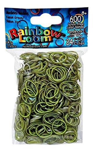 Плетение из резинок Rainbow Loom Средневековье зеленый 600 шт.