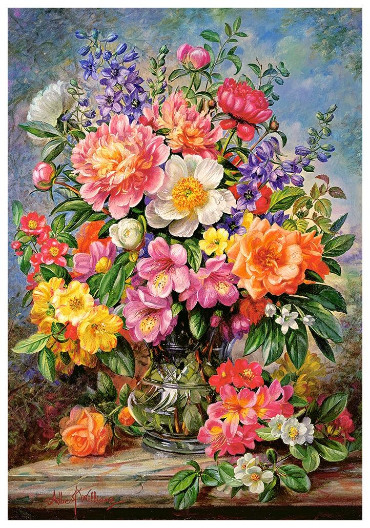 Купить Пазл цветы в сиянии 1000 элементов Р92442, Пазл Castorland Цветы в сиянии 1000 деталей, Пазлы