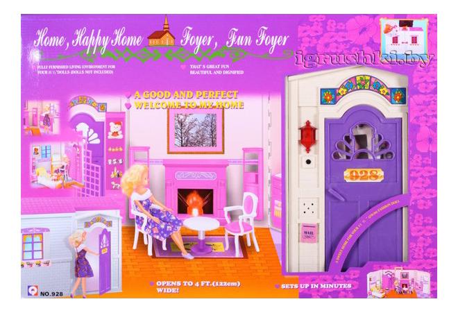 Кукольный дом happy home с мебелью звук Shenzhen toys Д5424