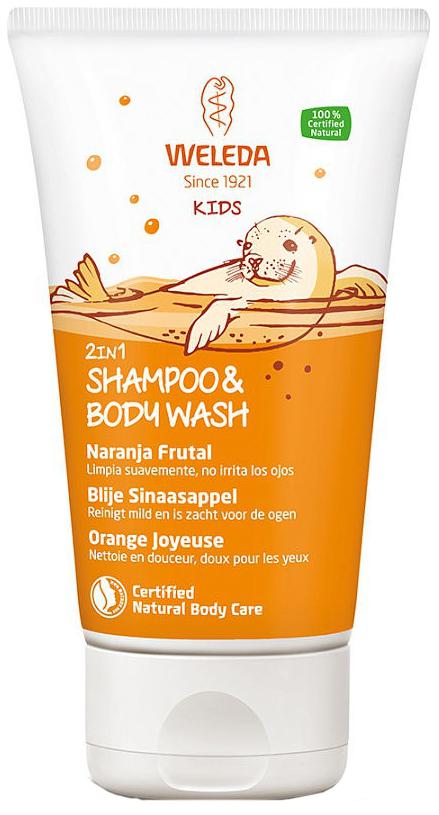 Детский шампунь-гель для волос и тела WELEDA Апельсин 150 мл