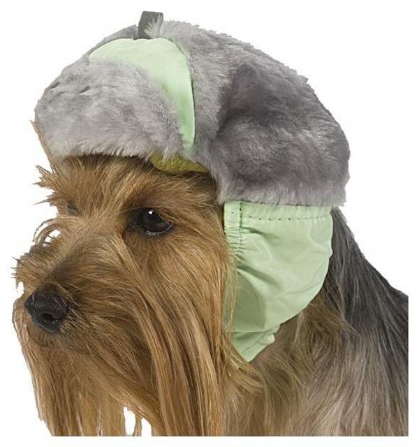 Шапка для собак ТУЗИК №2 теплая с мехом, плащевка, мех, флис