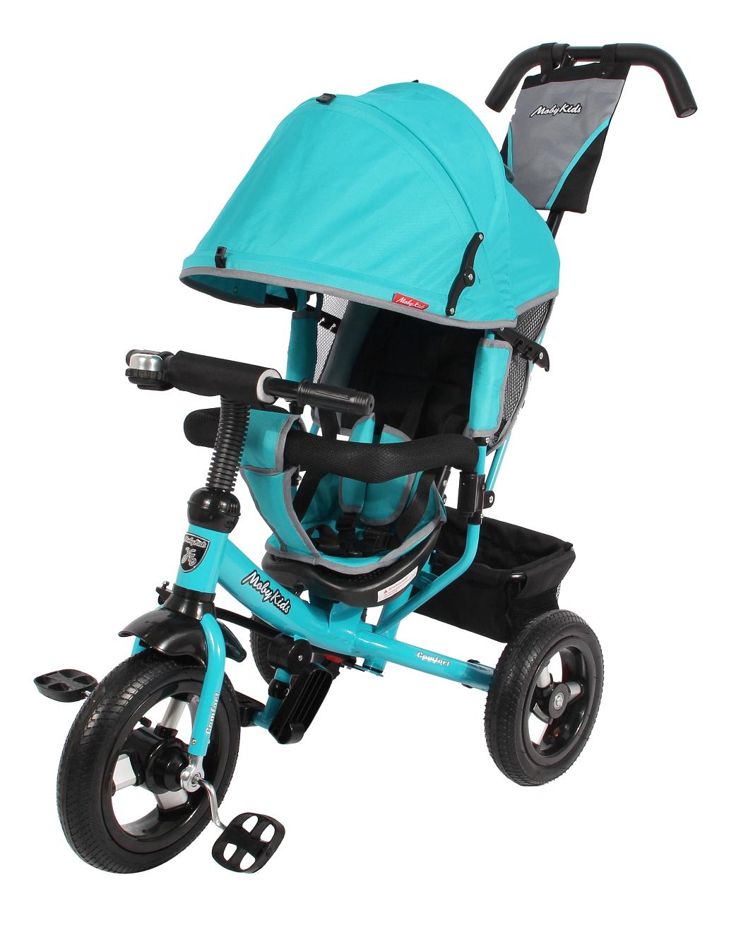 Купить Велосипед Moby Kids Comfort Air 12x10 бирюзовый, Детские велосипеды-коляски