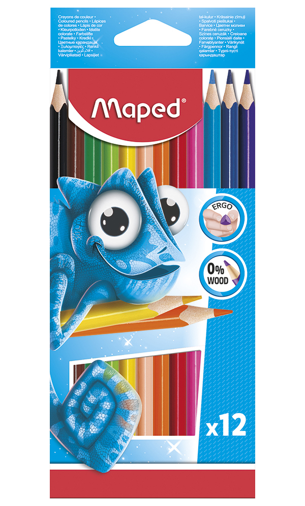 Цветные карандаши Maped Pulse пластиковые 12 цветов фото