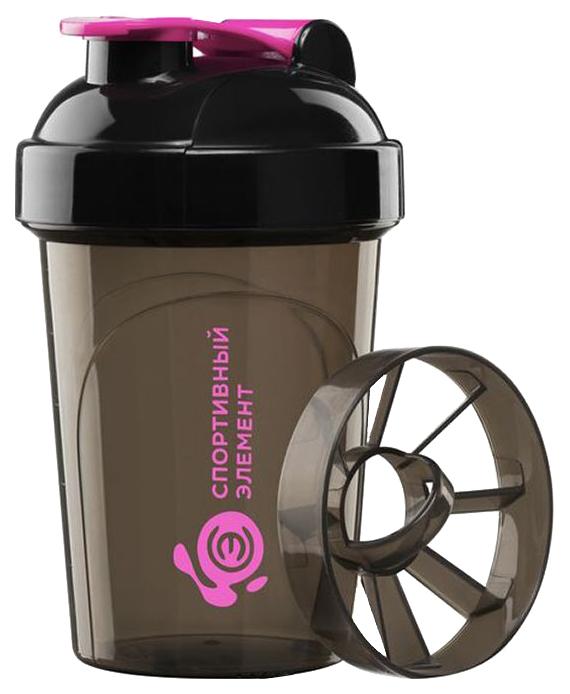 Шейкер Спортивный элемент Фианит Мини 1 кам. 500 мл коричневый, фиолетовый фото