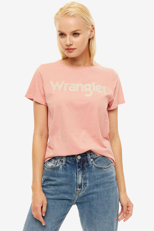 Футболка женская Wrangler розовая