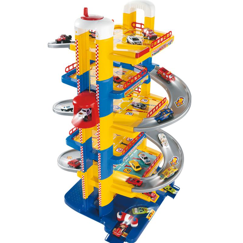 Купить Парковка Molto 5414 6 уровней с лифтом автомойкой заправкой без машинок, Детские парковки