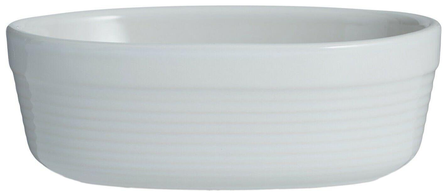 Блюдо для запекания William Mason овальное 17 см белое фото