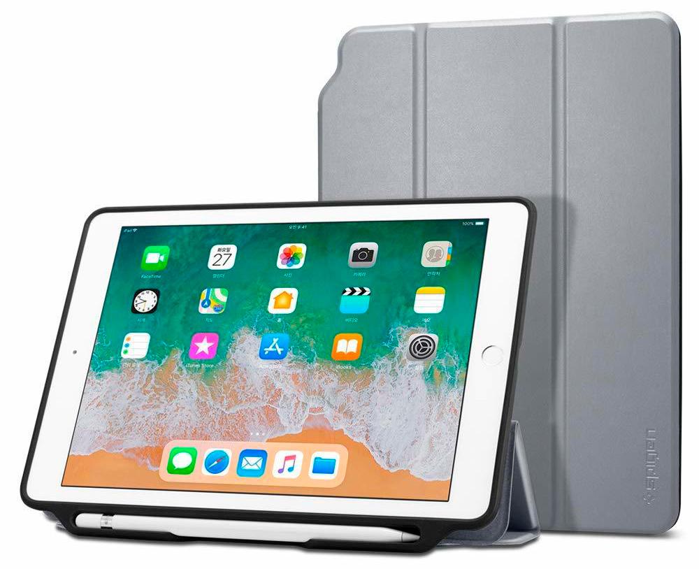 Чехол Spigen Smart Fold 2 для iPad Space Grey