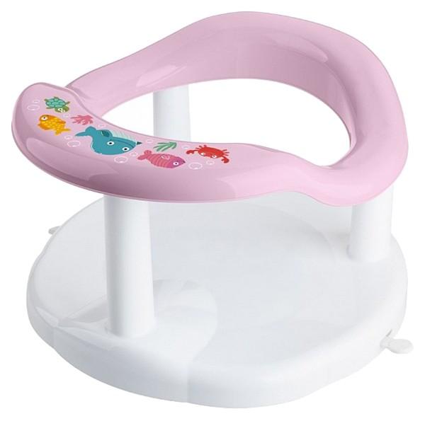 Купить Сиденье для купания детей, с аппликацией, розовое, Бытпласт, Стульчики для купания малыша
