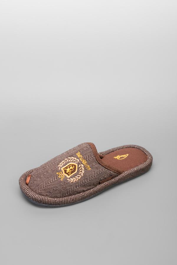 Домашние тапочки мужские TinGo HM9462-1 коричневые 40 RU фото