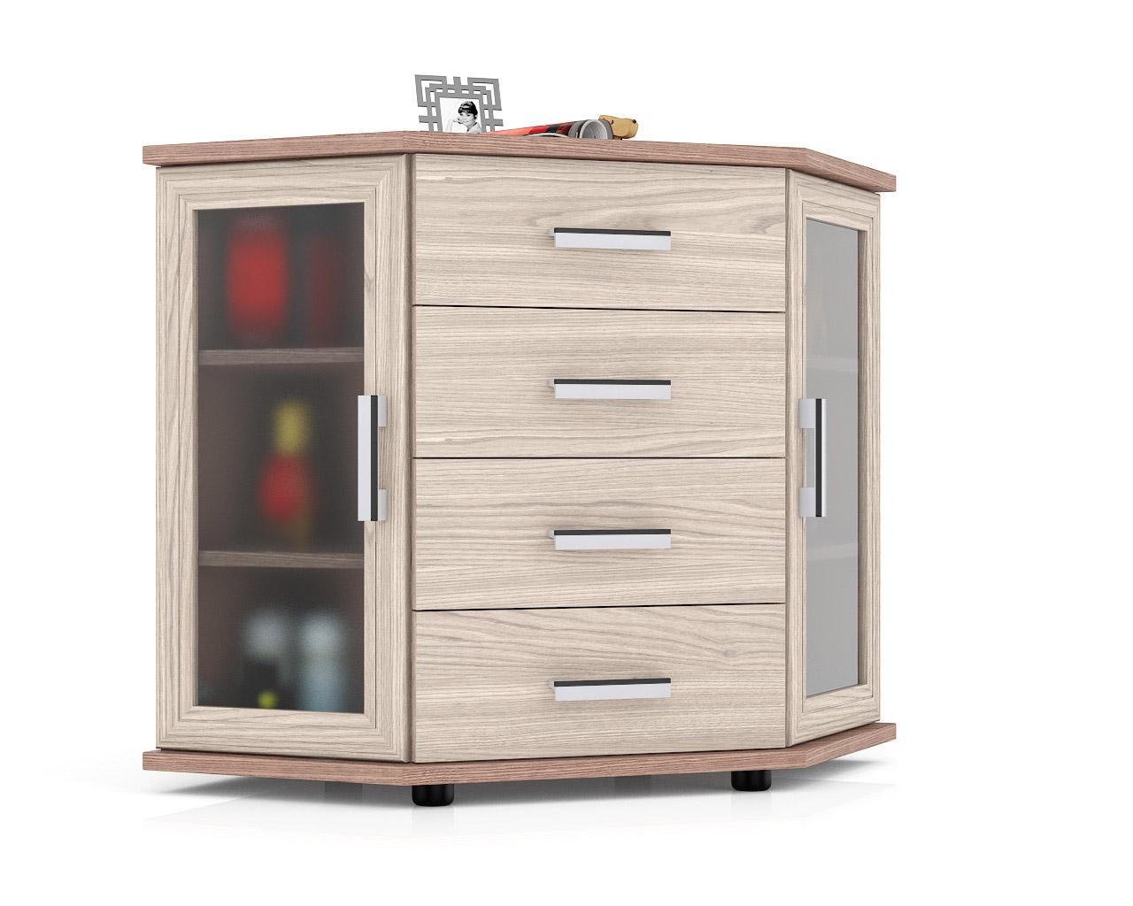 Комод Мебельный Двор К-12Д 102х77х79 см, ясень шимо темный