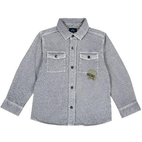 Рубашка Chicco для мальчиков, размер 110, цвет серый