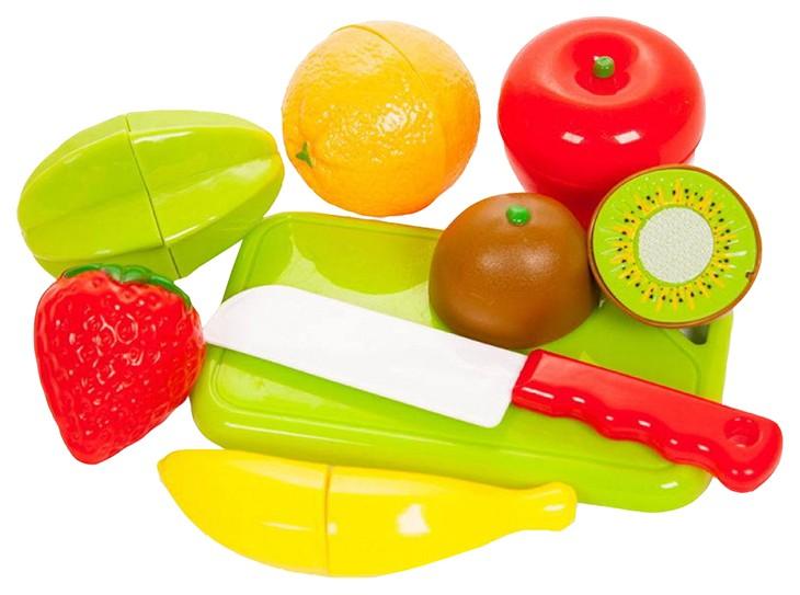 Купить Набор продуктов для резки на липучках Помогаю Маме , 2 вида, 14 предметов, ABtoys, Игрушечные овощи