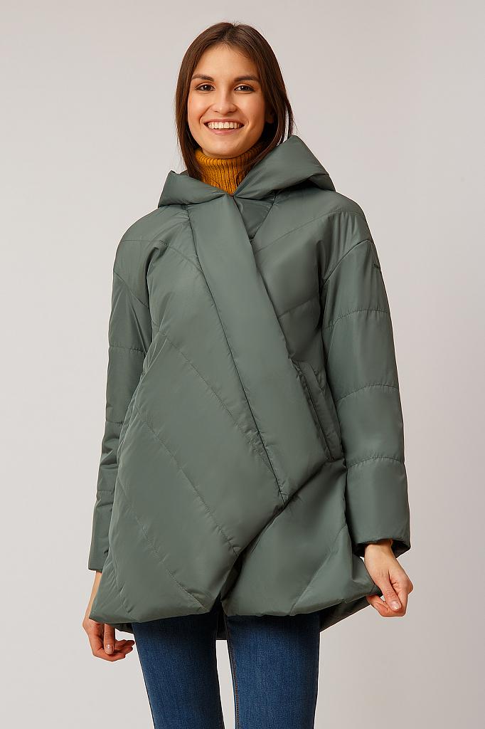 Куртка женская Finn Flare B19-11077 зеленая S фото