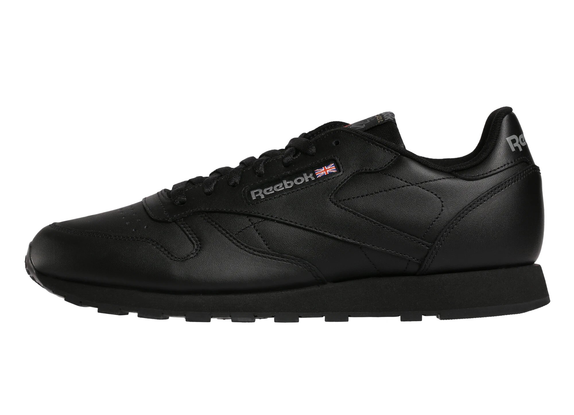 Кроссовки Reebok Classic Leather, black/int-black, 11.5 US фото