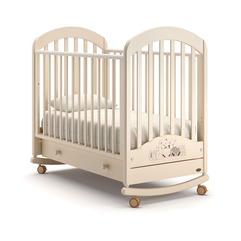 Детская кровать Nuovita Grano dondolo, cлоновая кость фото