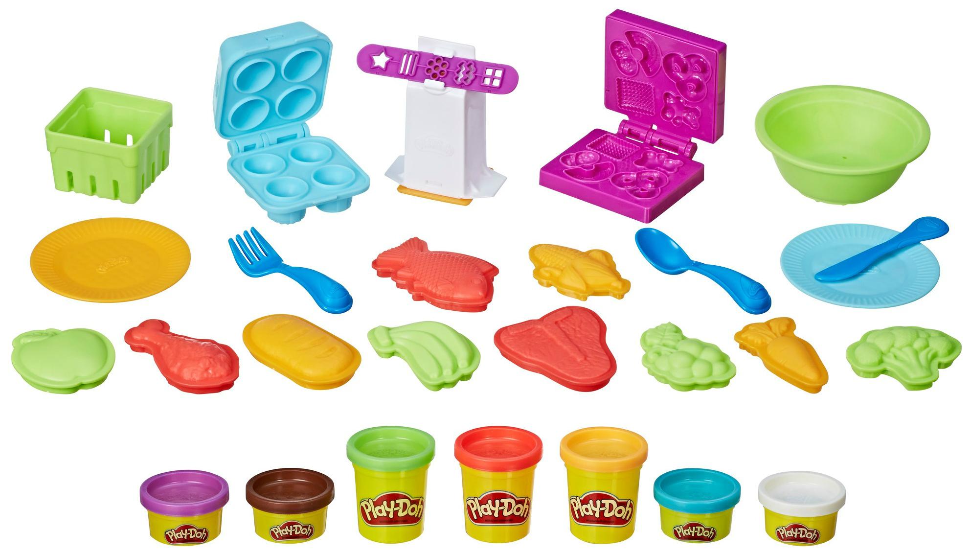 Купить Набор для лепки из пластилина Play-Doh Hasbro Готовим обед, Лепка