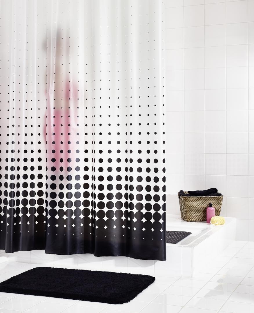 Штора для ванных комнат Blacky черный 180Х200