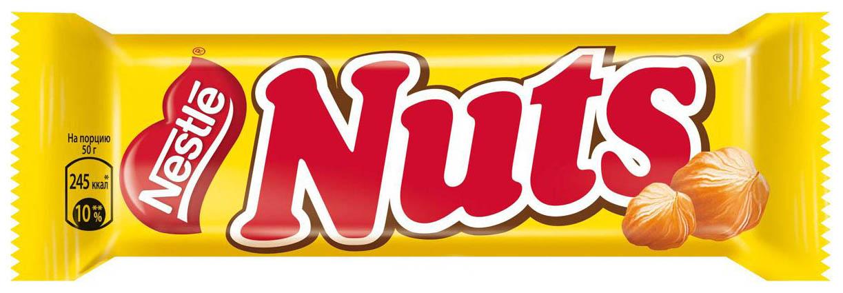 Конфета Nestle nuts с орехами 50 г 30 штук