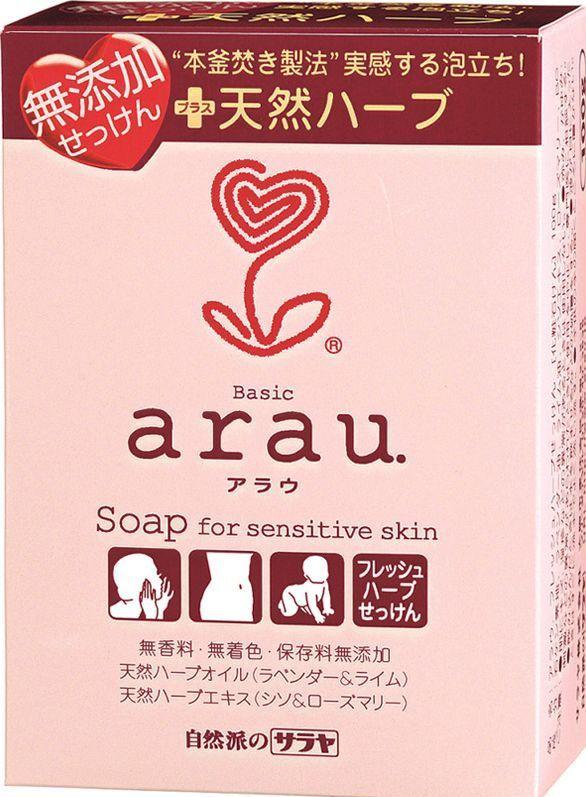 Saraya arau мыло для чувствительной кожи на основе трав 100 гр (брикет)