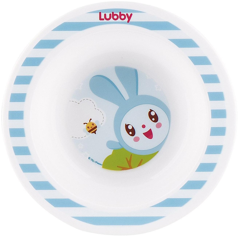 Купить Тарелка детская lubby new малышарики от 4 мес 200 мл голубой, Детские тарелки
